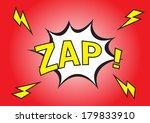 zap    comic speech bubble ... | Shutterstock .eps vector #179833910