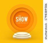 round podium. scene  pedestal... | Shutterstock .eps vector #1798389586