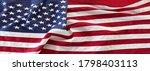 closeup of american flag | Shutterstock . vector #1798403113