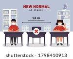 social distancing at school...   Shutterstock .eps vector #1798410913