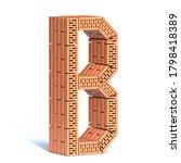 Brick Wall Font Letter B 3d...