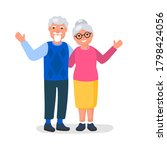happy grandparents day greeting ...   Shutterstock .eps vector #1798424056