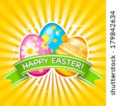 easter card with easter eggs | Shutterstock .eps vector #179842634