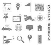 illustration of navigation icon ... | Shutterstock .eps vector #179843726