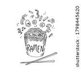 Asian Food. Ramen Noodles....