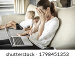 Stressed Frustrated Mother At...