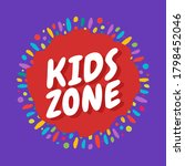Kids Zone Colorful Banner With...