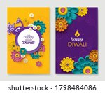 set of diwali greeting cards... | Shutterstock .eps vector #1798484086