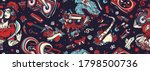 retro music seamless pattern.... | Shutterstock .eps vector #1798500736