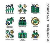 unemployment icons set filled... | Shutterstock .eps vector #1798508500