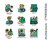 unemployment icons set filled... | Shutterstock .eps vector #1798508506