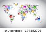 digital world map circuit ... | Shutterstock .eps vector #179852708