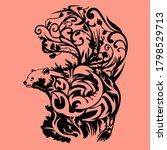 bear and hidden scorpion with... | Shutterstock .eps vector #1798529713