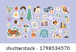 set of colorful hand drawn... | Shutterstock .eps vector #1798534570