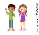 School Multiethnic Cute Kids....