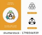 friends icons set vector...