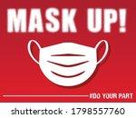 mask up sign   design to... | Shutterstock .eps vector #1798557760