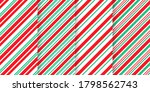 candy cane seamless pattern.... | Shutterstock .eps vector #1798562743