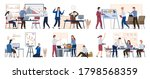 business trouble. company... | Shutterstock .eps vector #1798568359