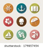 summer icons.vector  | Shutterstock .eps vector #179857454