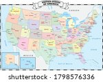 colorful united states... | Shutterstock .eps vector #1798576336