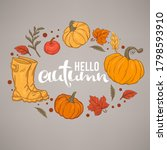 hello autumn  handdrawn...   Shutterstock .eps vector #1798593910