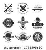 vintage skateboarding tattoo...   Shutterstock .eps vector #1798595650