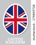 sticker flag of united kingdom...   Shutterstock .eps vector #179859728
