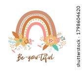 floral rainbow tribal boho chic ...   Shutterstock . vector #1798604620