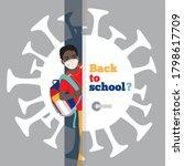 dark skin schoolboy with...   Shutterstock .eps vector #1798617709
