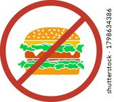 icon of prohibited hamburger....