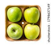 Green Apples On Pulp Paper Foo...