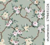 grey and cream vector flowers... | Shutterstock .eps vector #1798651126