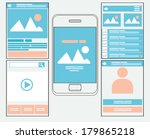 flat mobile web template