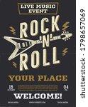 rock music vector flyer  live... | Shutterstock .eps vector #1798657069