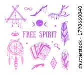 free spirit boho vector... | Shutterstock .eps vector #1798660840