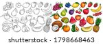 fruit and berries drawn icons... | Shutterstock .eps vector #1798668463