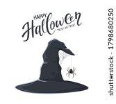 halloween theme. black witch... | Shutterstock .eps vector #1798680250