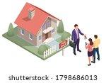 isometric real estate agent... | Shutterstock .eps vector #1798686013