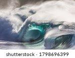 Huge Green Shore Break Wave...