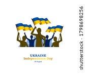 ukraine independence day vector ... | Shutterstock .eps vector #1798698256
