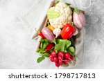 Assortment Of Vegetables In A...