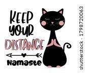 keep your distance namaste   ... | Shutterstock .eps vector #1798720063