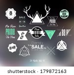 set of hipster modern colored... | Shutterstock .eps vector #179872163