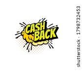 cash back cloud burst isolated... | Shutterstock .eps vector #1798732453