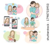 mother and daughter do...   Shutterstock .eps vector #1798733953