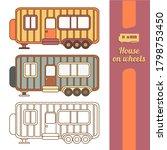 house on wheels  trailer icon....