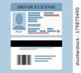 illustration of driver's... | Shutterstock .eps vector #179875490