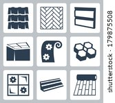 vector building materials icons ... | Shutterstock .eps vector #179875508