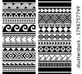 polynesian maori tattoo... | Shutterstock .eps vector #1798757749